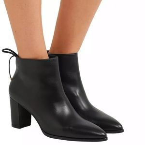 Stuart Weitzman Lofty Leather Zip Ankle Booties
